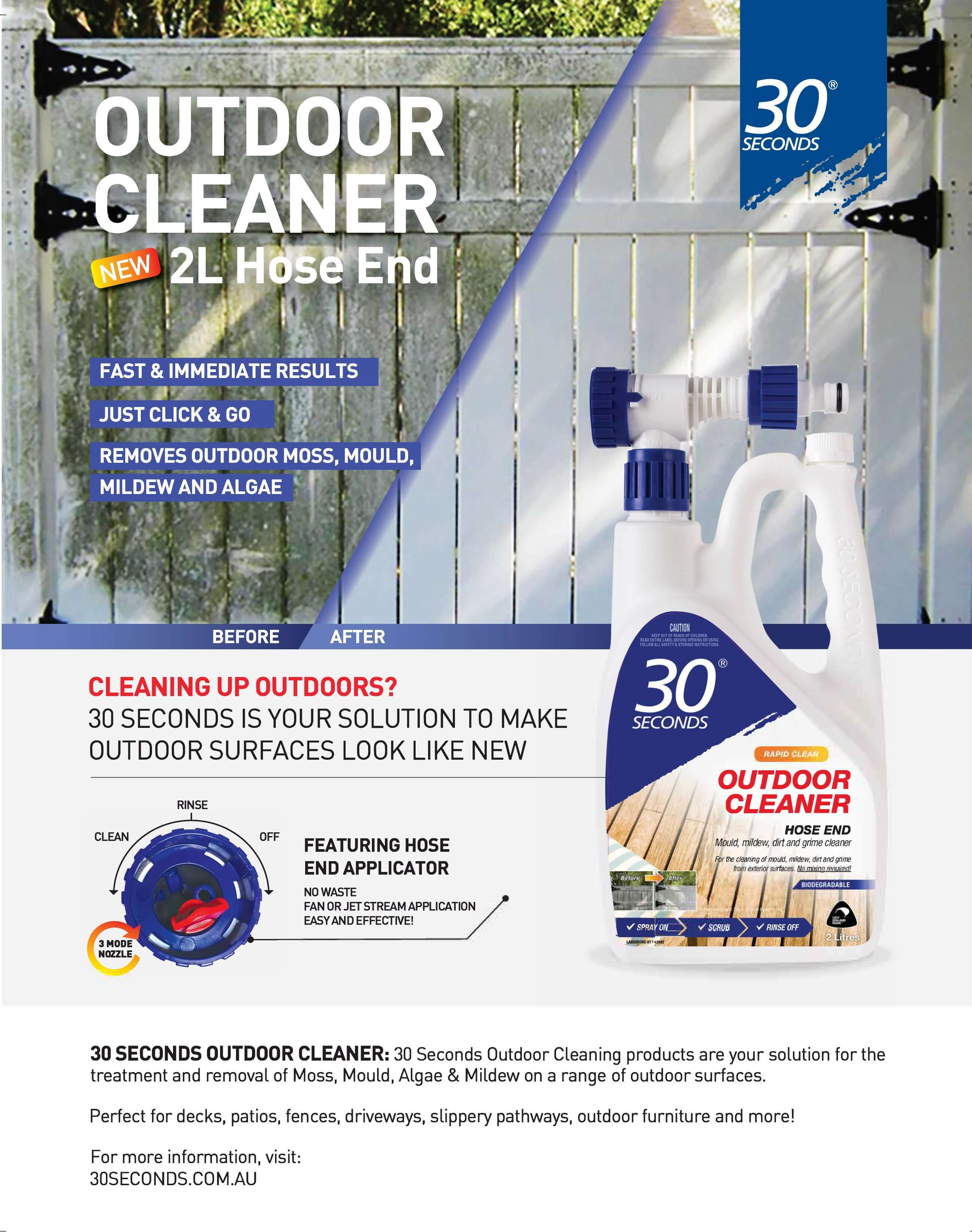Bunnings Magazine - 30 Seconds Outdoor Cleaner